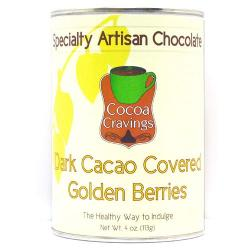 Dark Cacao Covered Golden Berries