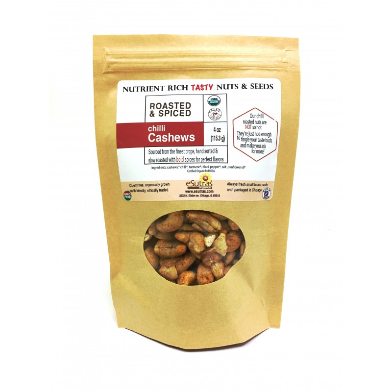 Organic Roasted Chilli Cashews, 4oz